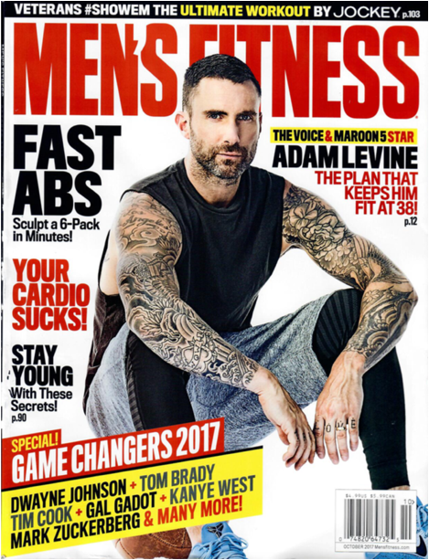 .@maroon5's @adamlevine covers the October issue of @MensFitness magazine https://t.co/i6IYViUe2s https://t.co/ancHnsUP6o