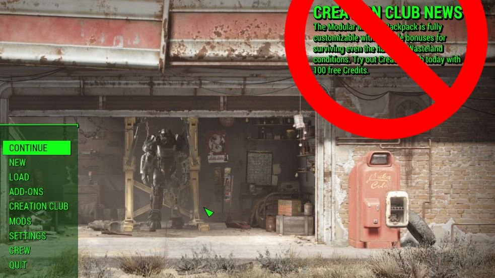 A mod that removes Creation Club news from Fallout 4's main menu is pretty popular https://t.co/ITJLsI6G6g https://t.co/iRHFwzaLE5