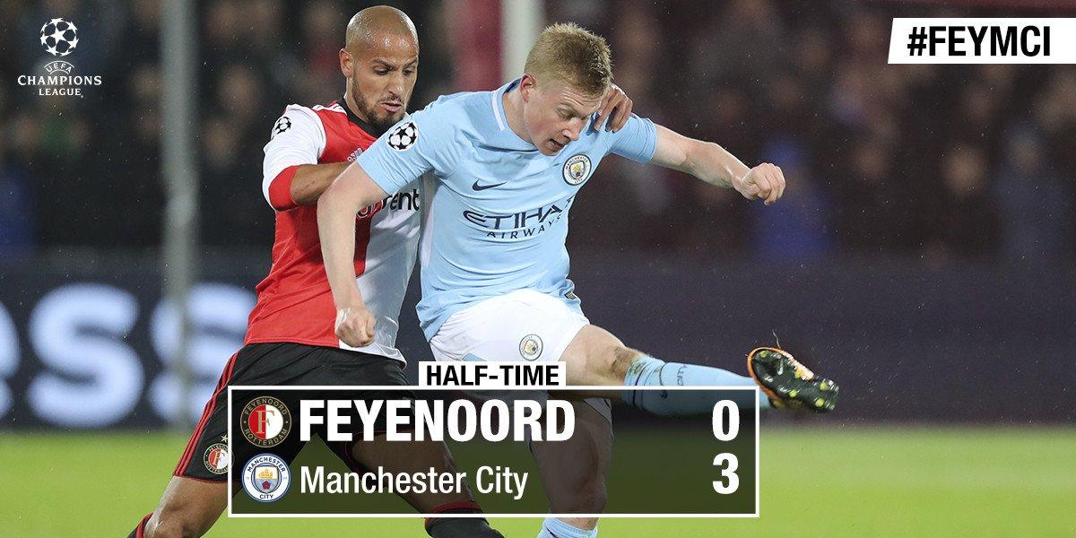 RT @Feyenoord: RUST | Vooralsnog niet de avond waarop we hadden gehoopt...  #feymci #UCL https://t.co/Ig1p6lW8FZ