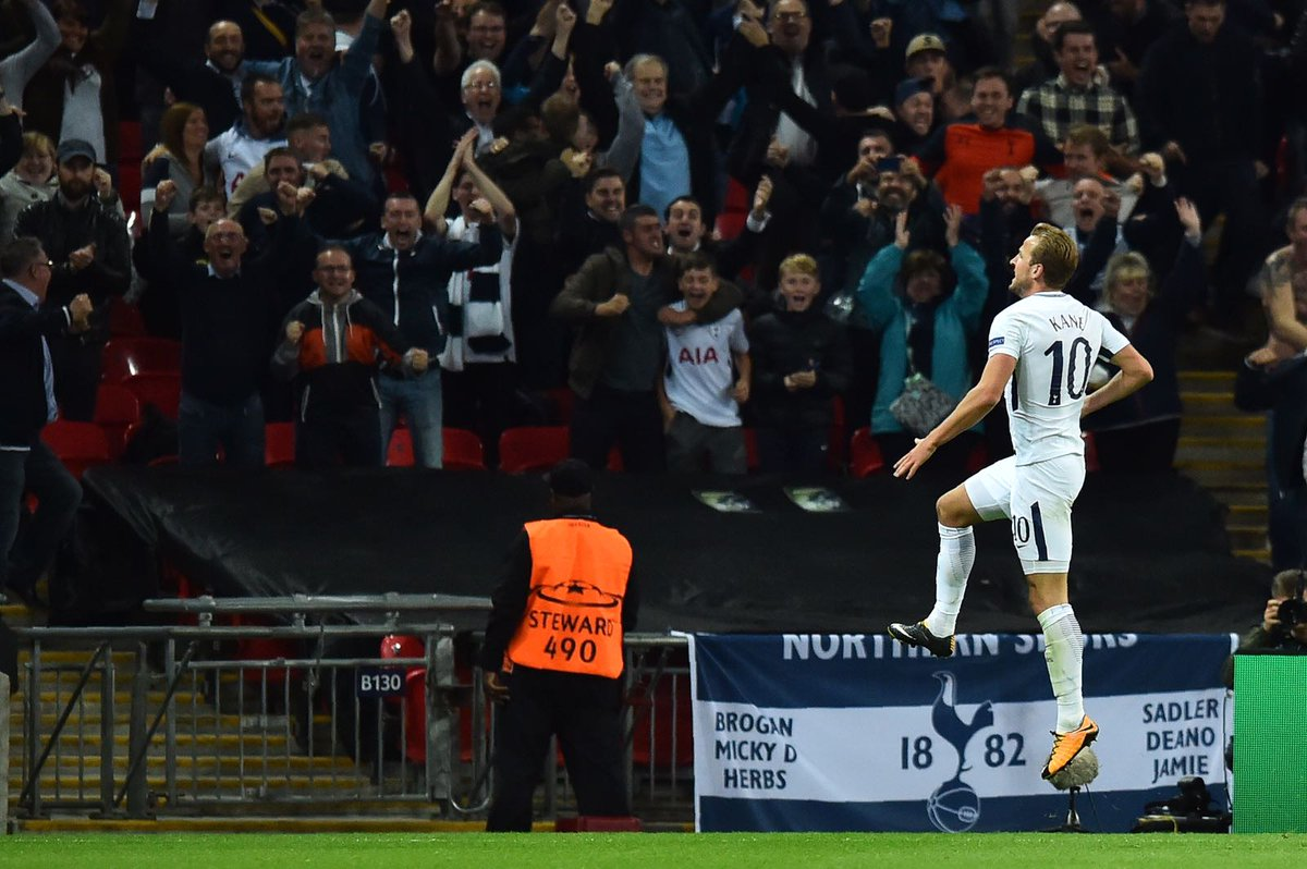 RT @HKane: Huge performance. Massive win to get our @ChampionsLeague group started! ⚽⚽ #UCL #COYS https://t.co/AB7G3mFRYY