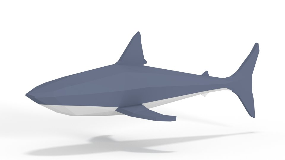 Shark for @moatboat , thoughts? #gamedev #indiedev #lowpoly https://t.co/hKQgvKrOqm