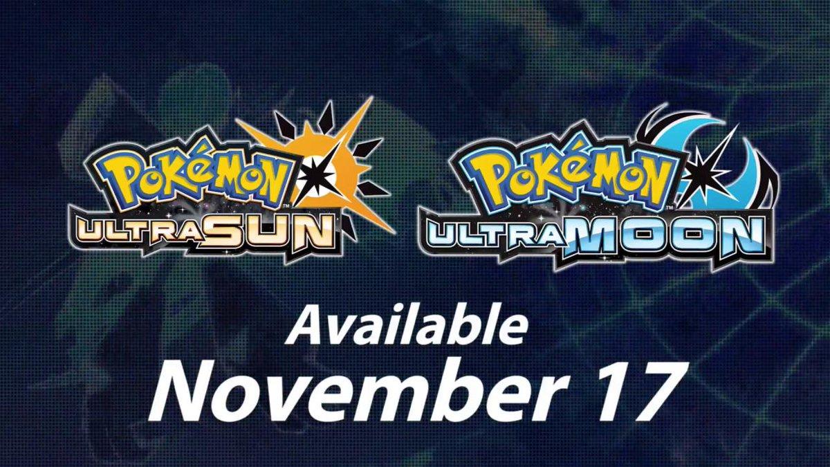 RT @IGN: #PokemonUltraSunMoon is coming on November 17th! #NintendoDirect https://t.co/Vj54DwHerQ