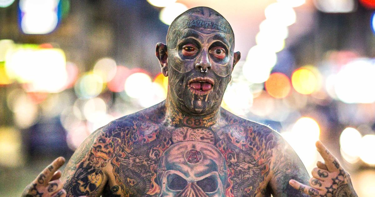 Man tattoos his penis and eyeball as he blows £60,000 covering 90 per cent of his body