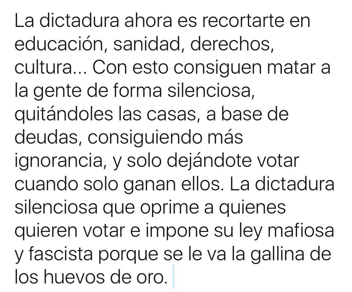RT @XaviViladomat: #HolaDictadura Una verdad como un templo. https://t.co/db34dwWzZz