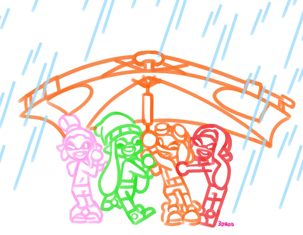RT @3DROD: Spend some time with friends on a rainy day. #Splatoon2 #NintendoDirect Quick noodle/ WIP? https://t.co/WOkvXSOorN