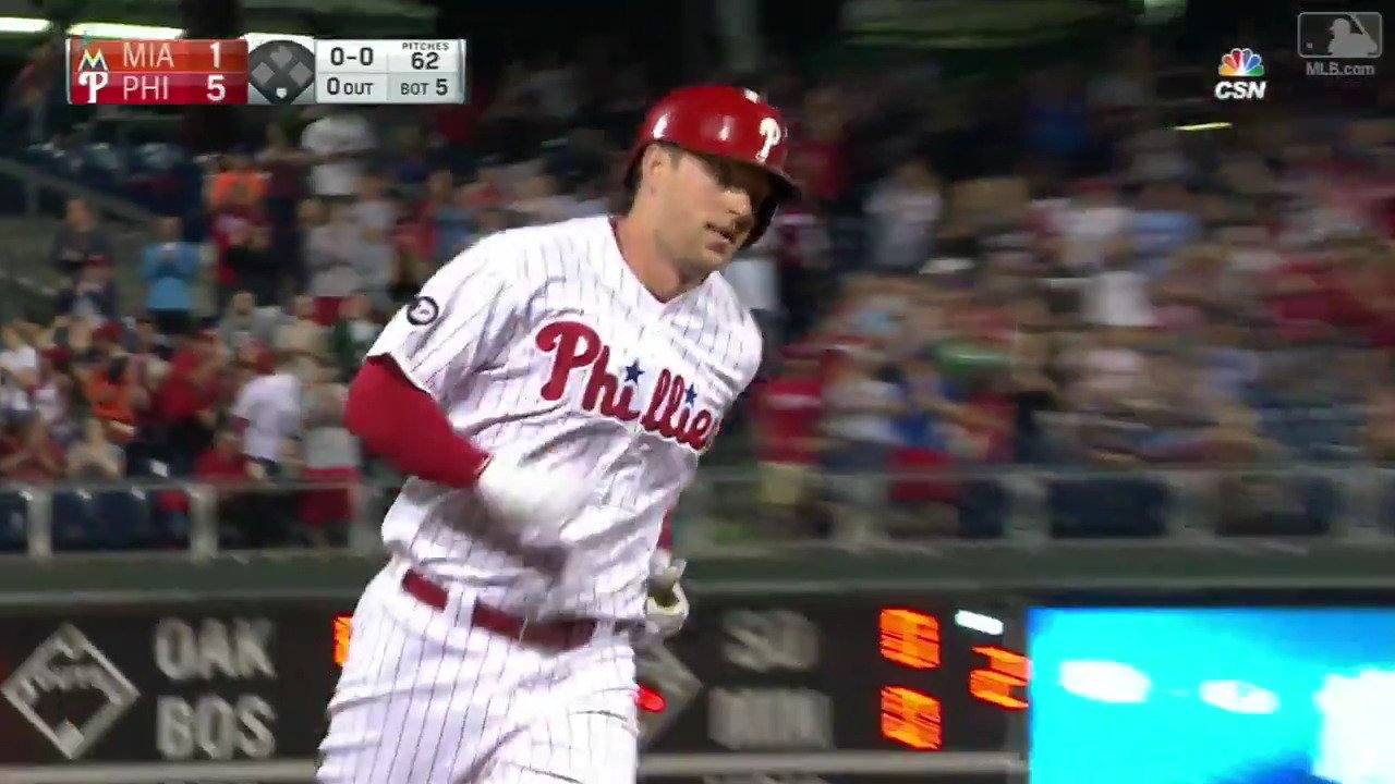 This is @RhysHoskins22's 17th HR in 33 career games.  That is bonkers. https://t.co/ZKefe3yzQt
