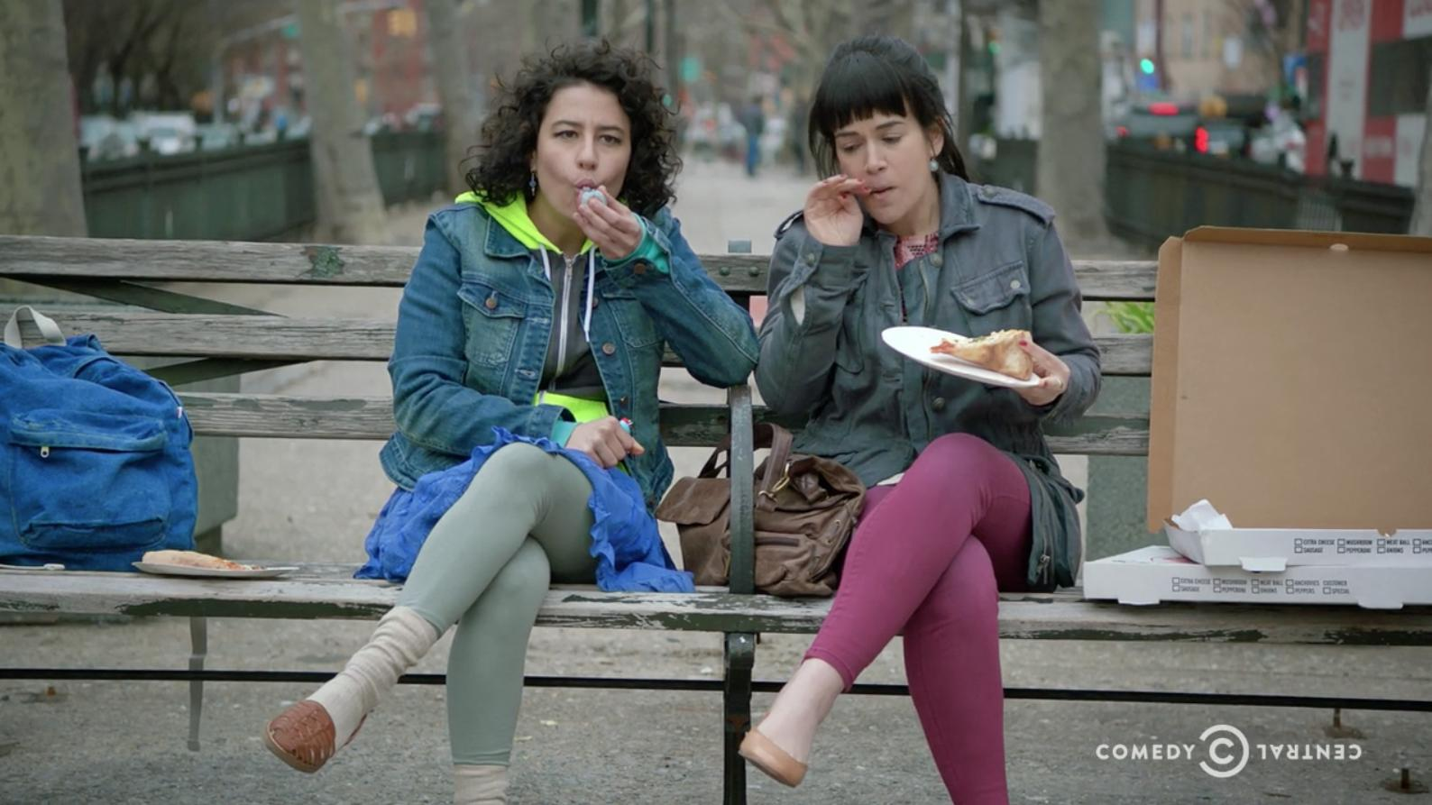 Learn how Abbi and Ilana originally met in the 'Broad City' season premiere: https://t.co/r2BvzFcmfV https://t.co/ylnoviRXpd