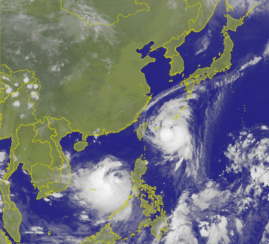Typhoon Talim veers away from Taiwan, moves towards Japan