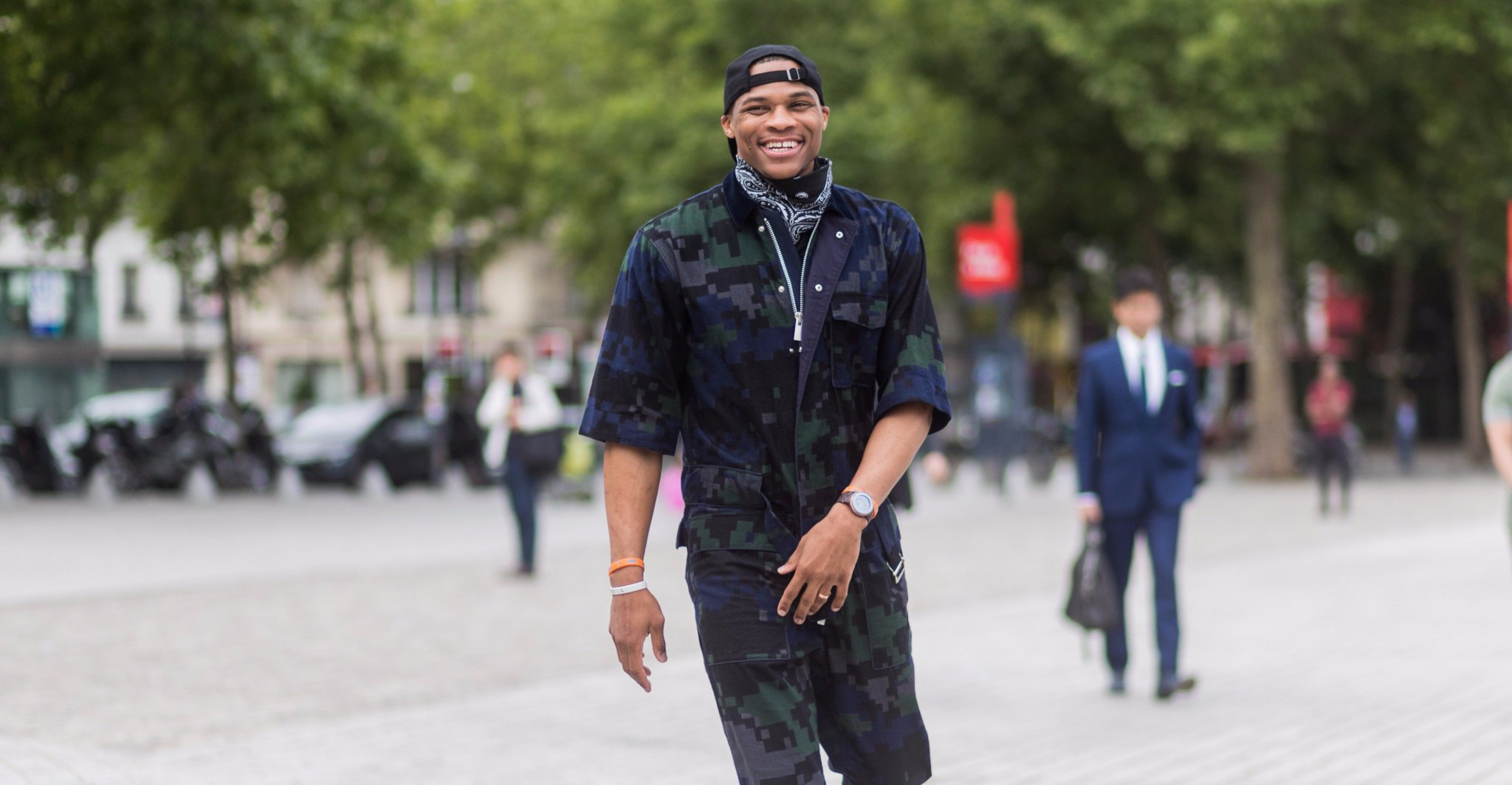 Why not?  Russell Westbrook announces clothing collection, will launch 'within a year' https://t.co/F5xpbbciHB https://t.co/Iuy3D3uTee
