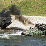 Amphibious vehicle ignites, 8 Marines sent to burn center