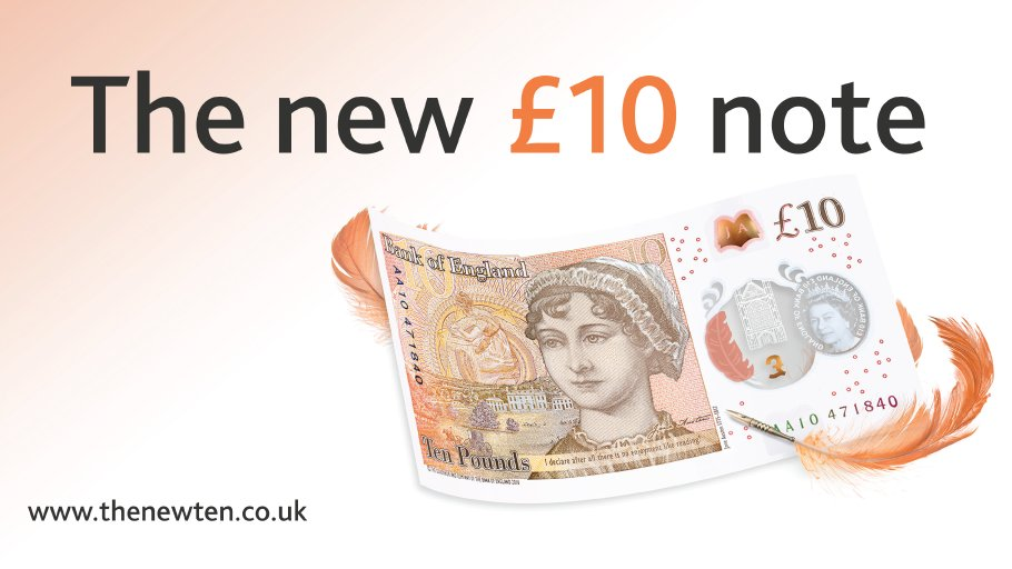 The #NewTenPoundNote is here. Have you spotted one yet? https://t.co/QBDJIeq8Fv https://t.co/hxaJmXt1La