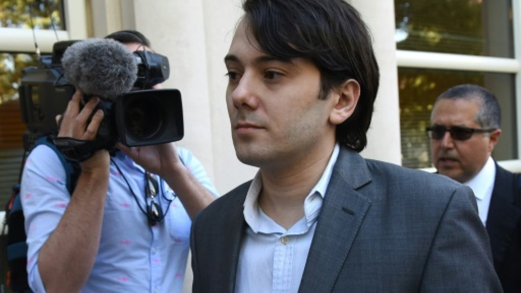 'Pharma Bro' Shkreli jailed after Clinton threat