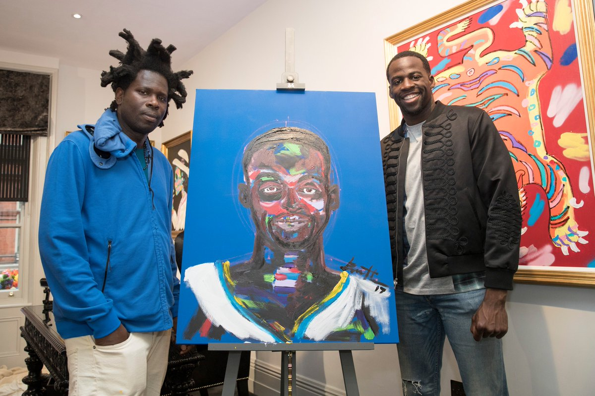 RT @NBA: NBA Champ @Money23Green visited artist Bradley Theodore at the @MaddoxGallery in London. #NBACrossover https://t.co/KsGAl3jRIw