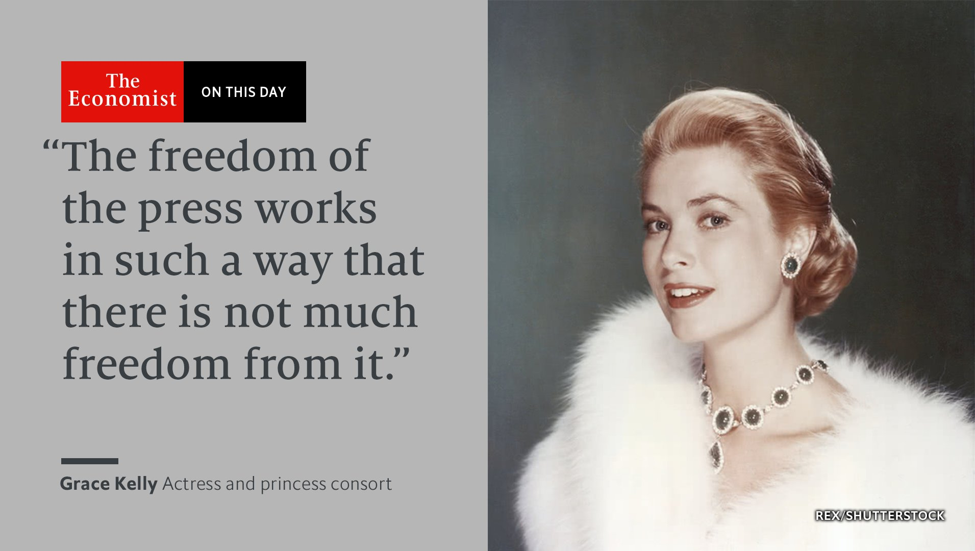 Grace Kelly died #OnThisDay 1982. She made three films with Hitchcock, who considered her the ultimate femme fatale https://t.co/DpuQGbcoNf