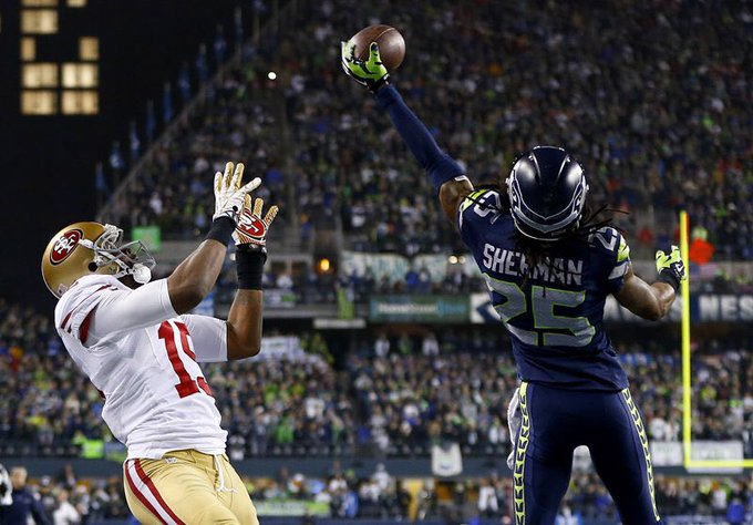 Happy birthday to Michael Crabtree!  I bet he still has nightmares about this play........