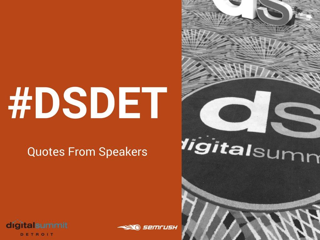 #DSDET