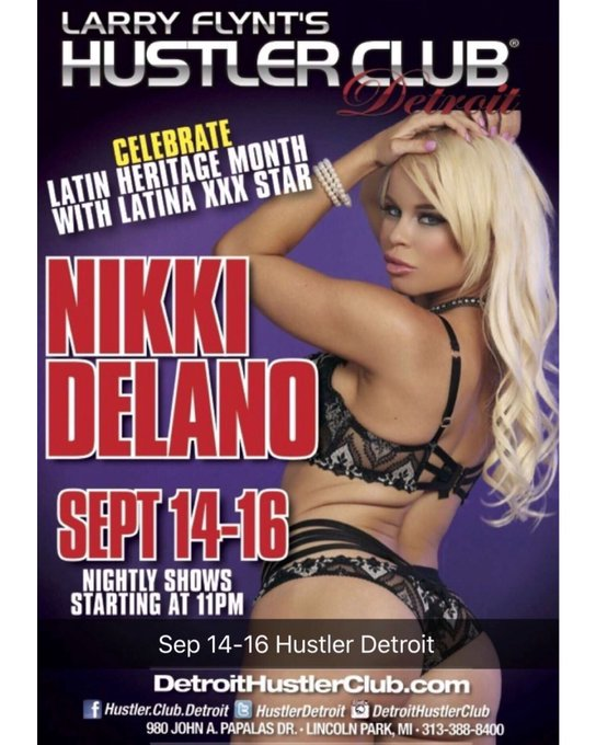 Detroit I'm up in you 😘 I'll be doing 1 show tonight at @hustlerdetroit and 2 Tom and Saturday https://t