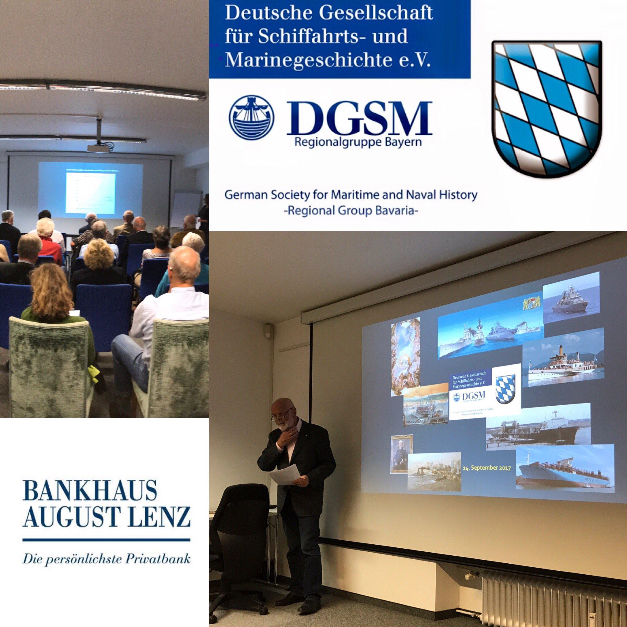 Die @DGSMBayern zu Gast bei @Banklenz in München mit inspirierenden maritimen Präsentationen. #Geschichte #Seefahrt https://t.co/iN7zJMPOkN