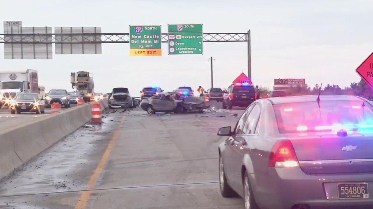 Police: Newark, Del. man killed in crash on I-95