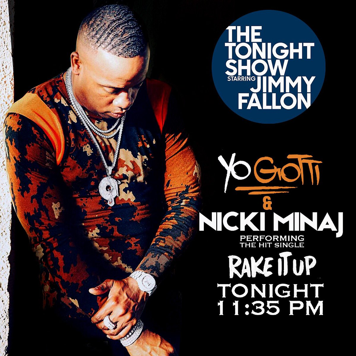 RT @yogottikom: WATCH ME ON @JimmyFallon Tonight / @Nickiminaj ???????????? https://t.co/Fn0lBMsBKF