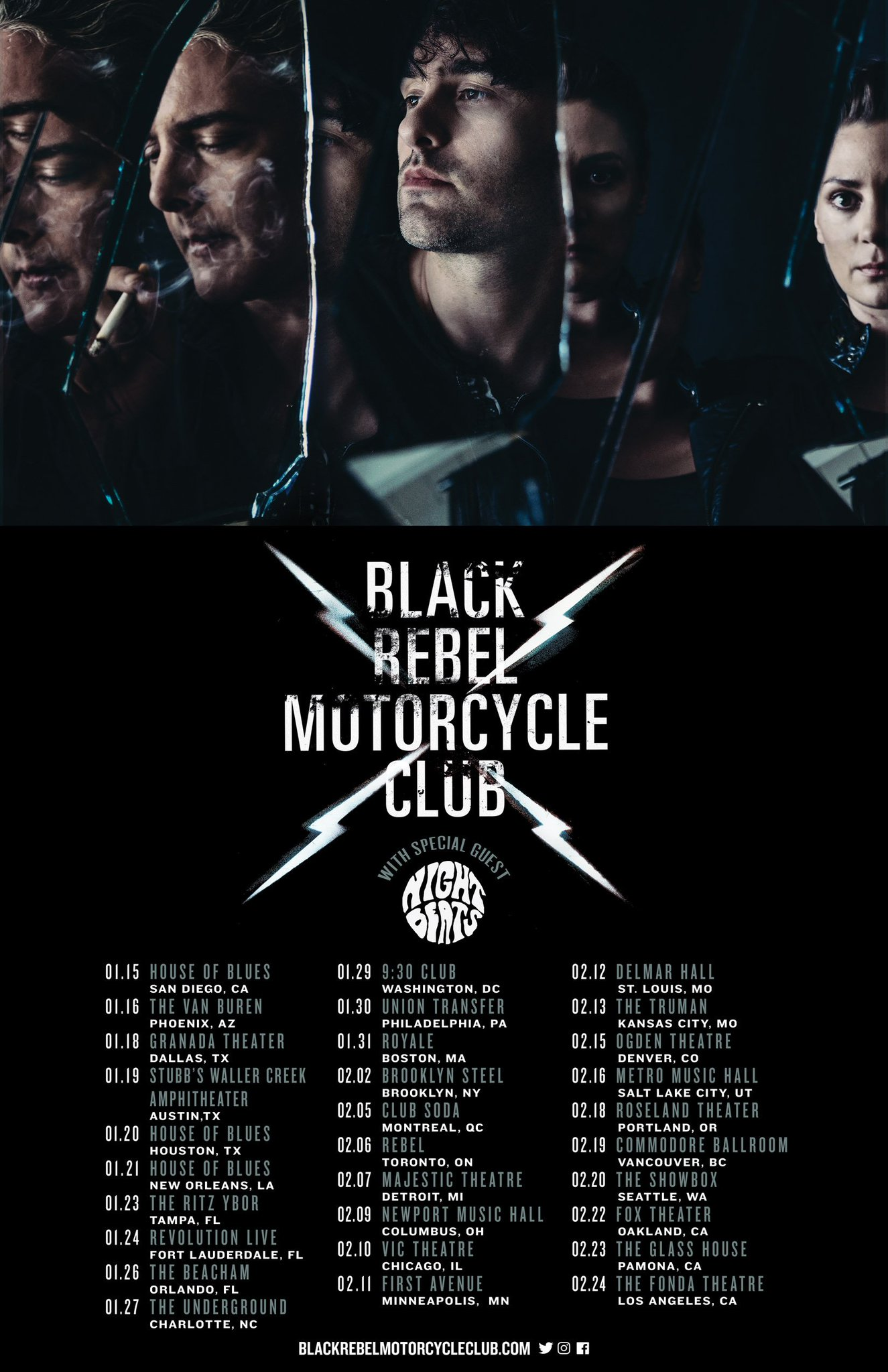 Tickets are on-sale now for Black Rebel Motorcycle Club's US tour! https://t.co/jgwoQUJEwW https://t.co/pGo2xeobZ2