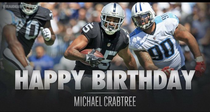 Wishing WR MICHAEL CRABTREE A VERY HAPPY BIRTHDAY