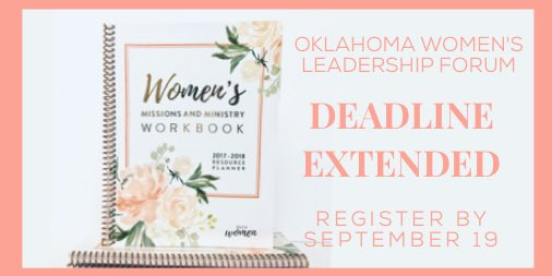 test Twitter Media - GOOD NEWS! We have extended the Oklahoma Women's Leadership Forum deadline until Tuesday, September 19! 🙌🏼 Join us in Tulsa on September 23. https://t.co/TQnQw8aYUD
