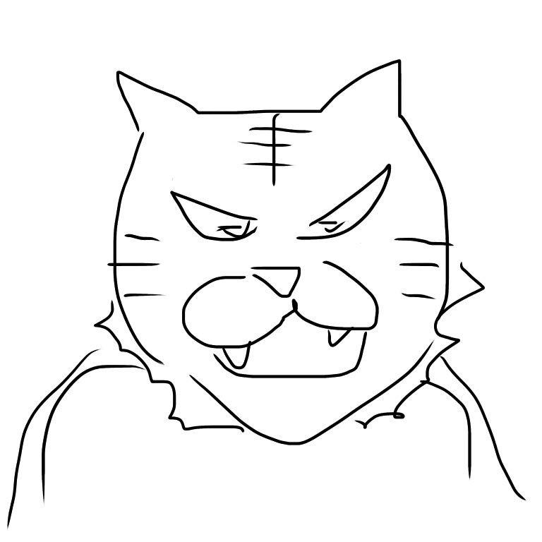 この人もいるんですね!何度か描き直したけど無理!aisonxさんの今日の落書き『タイガーマスクWさん』を描きましょう。#