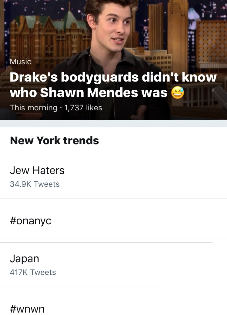 In 2017, Jew Haters is trending. https://t.co/230u7awvpe