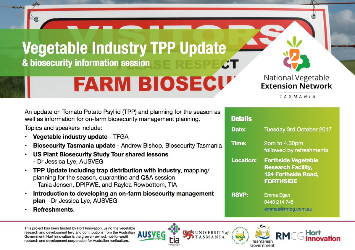 TPP Update and Biosecurity Information Session |...