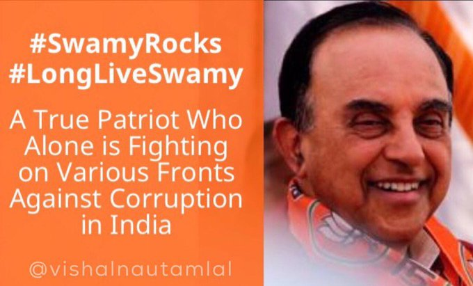 Happy Birthday to Respected Dr. Subramanian Swamy Ji