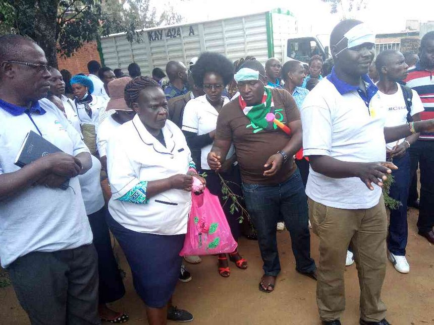 Trans Nzoia nurses ask residents to join them in protests