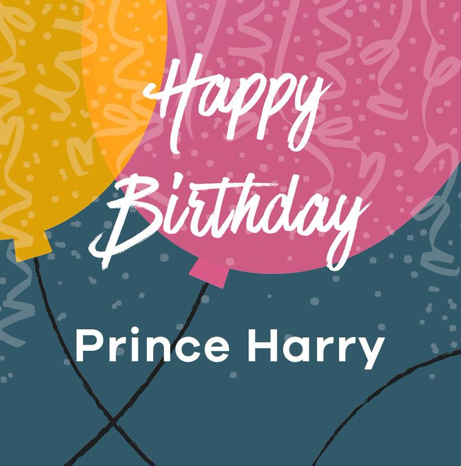 Happy 33rd Birthday to Prince Harry today!