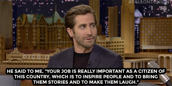 .@BarackObama's advice resonated with Jake Gyllenhaal https://t.co/sRylEsMpaW https://t.co/bWnNjPfZfN