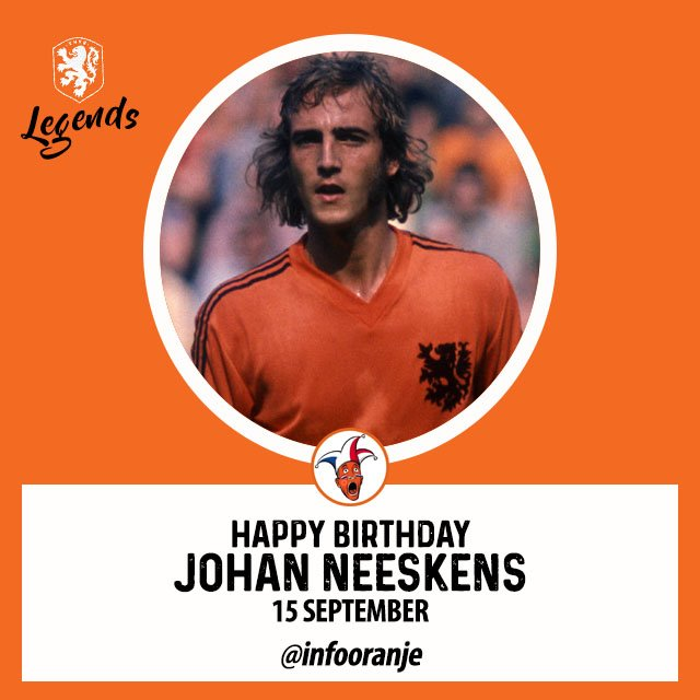 Happy Birthday, Johan Neeskens, 15 September!