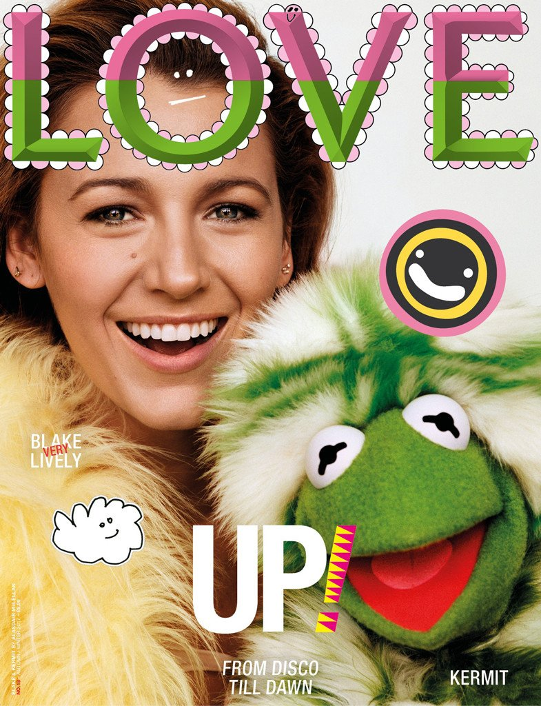 Blake Lively did a photo shoot with Kermit the Frog and Miss Piggy and we L-O-V-E it: