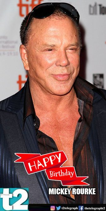 "T2 wishes a very happy birthday to Mickey Rourke, the man who gives us ""Whiplash\"" with his versatility"