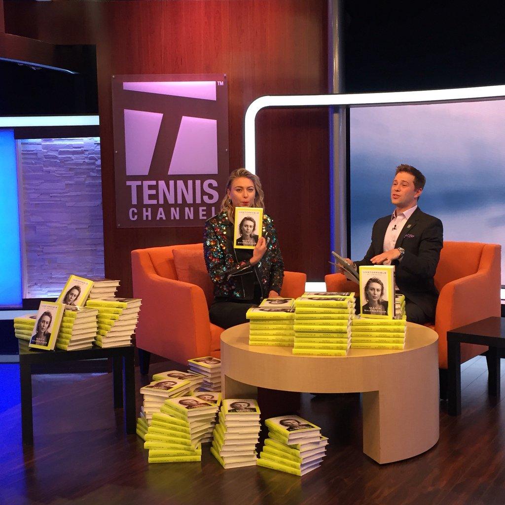 RT @TennisChannel: We're LIVE with @MariaSharapova from the Tennis Channel studio!  Watch: https://t.co/6Sdx74Uh63 https://t.co/jBUlCFPaE2