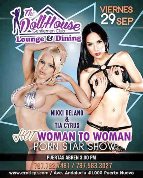 1 pic. September 28-30 meet @Tia_Cyrus & I in Puerto Rico at our Duo feature deats on the flyer 👯🌟 https://t