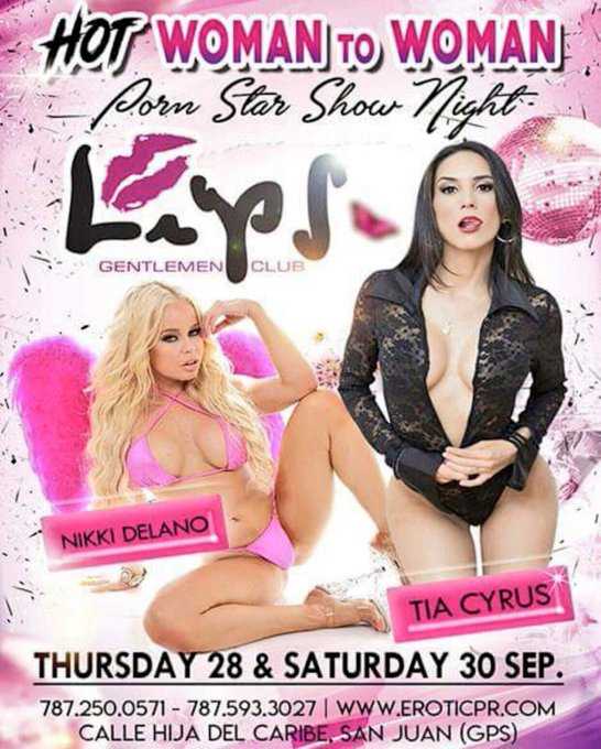 2 pic. September 28-30 meet @Tia_Cyrus & I in Puerto Rico at our Duo feature deats on the flyer 👯🌟 https://t