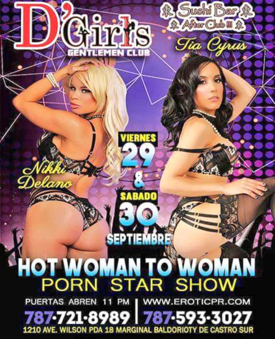 3 pic. September 28-30 meet @Tia_Cyrus & I in Puerto Rico at our Duo feature deats on the flyer 👯🌟 https://t