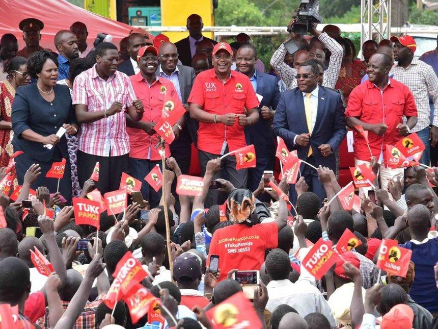 UhuRuto to address 10,000 delegates in western vote-hunt