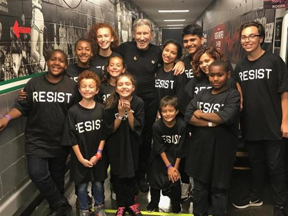 East Boston youngsters take the stage with Roger Waters