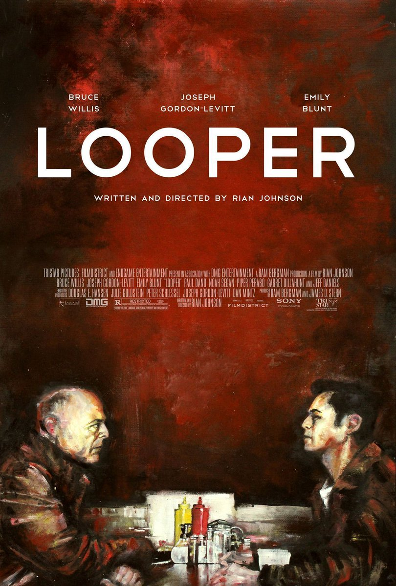 Beautifully hand painted Looper poster by @zucherman. https://t.co/5tWrek16M9 #TBT https://t.co/eGy9zUadIx