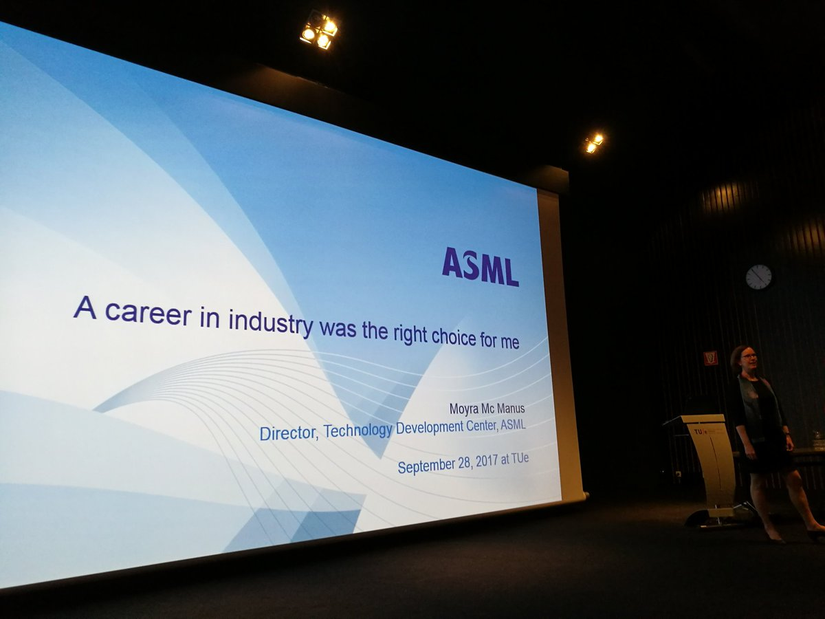 test Twitter Media - Moyra Mc Manus director @ASMLcompany presenting to young #female #PhD  students @TUeindhoven  on career path in industry #womeninSTEM https://t.co/vXjKBq0DKP