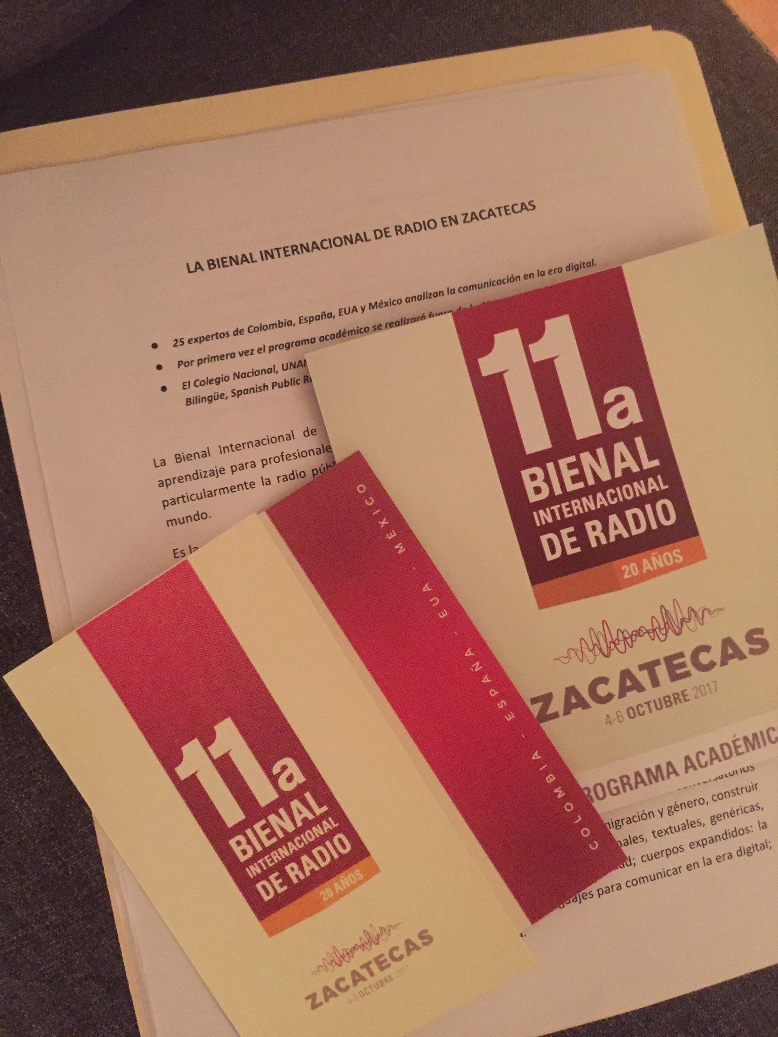 En #Zacatecas presentamos hoy el Programa Académico de la @BienalRadio !Un honor colaborar con el @SIZARTOficial¡ https://t.co/vEVbSakZC4