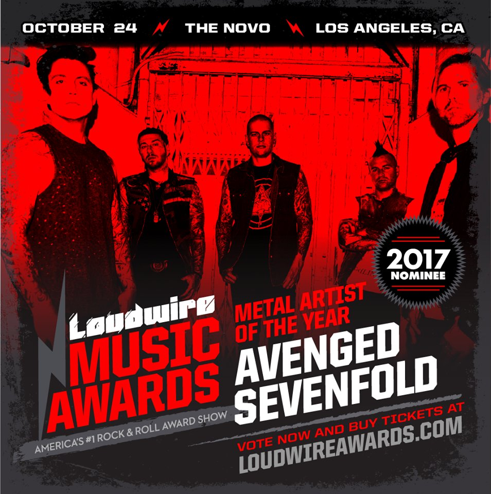 Voting closes for the Loudwire Music Awards Oct. 2.  Vote for A7X at:  https://t.co/BXTMpJcgvz https://t.co/vAOPjc5LTT