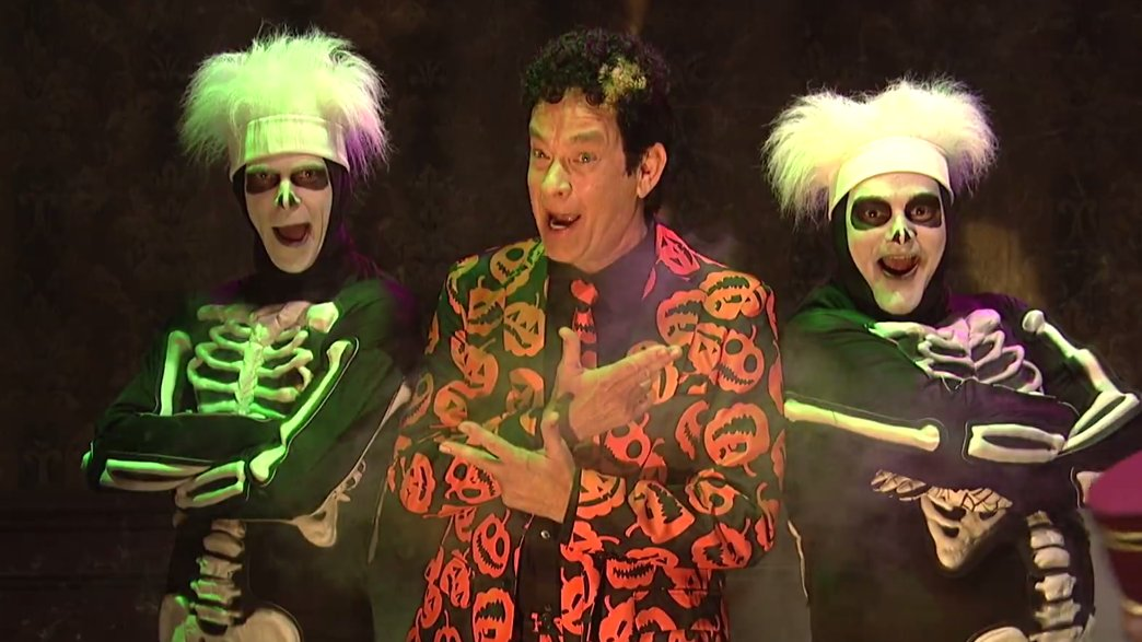 Tom Hanks is returning as David S. Pumpkins for a Halloween special! Questions?