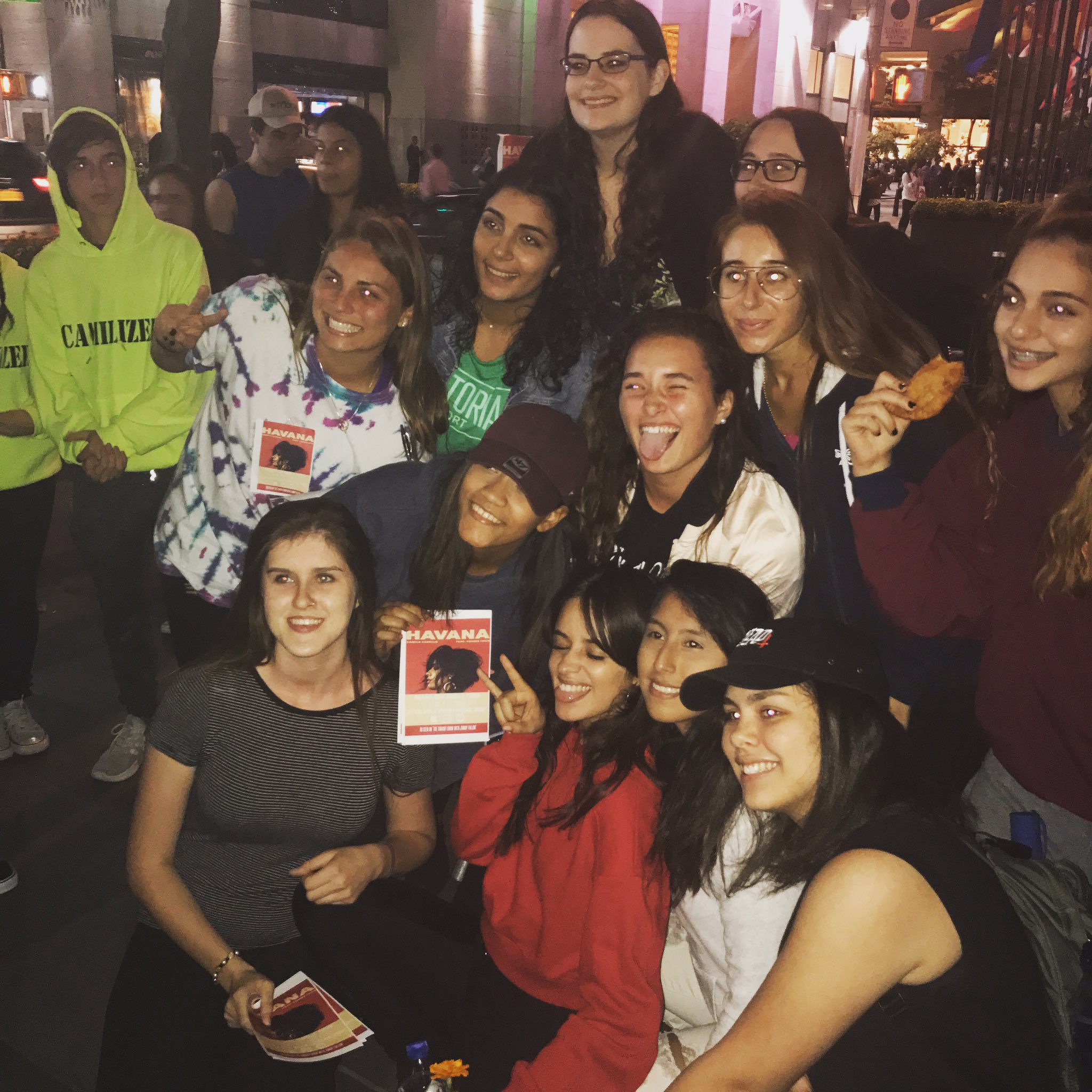 SURPRISE!!!! Look who came to say hello to the early birds camping out for the @todayshow #CamilaCabelloTODAY �� https://t.co/8i2N4nhwnR