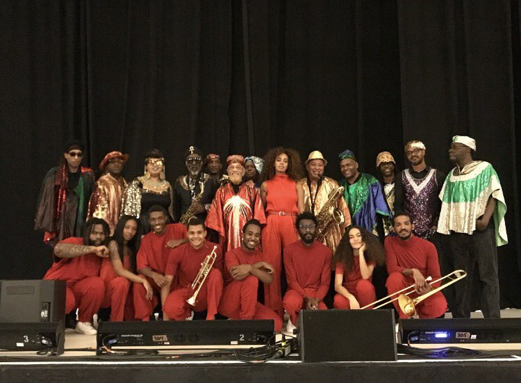 And what an honor to kick off the #orionsrise shows tonight in Boston with the @SunRaUniverse Arkestra ✨✨✨ https://t.co/HamaYuOrU4